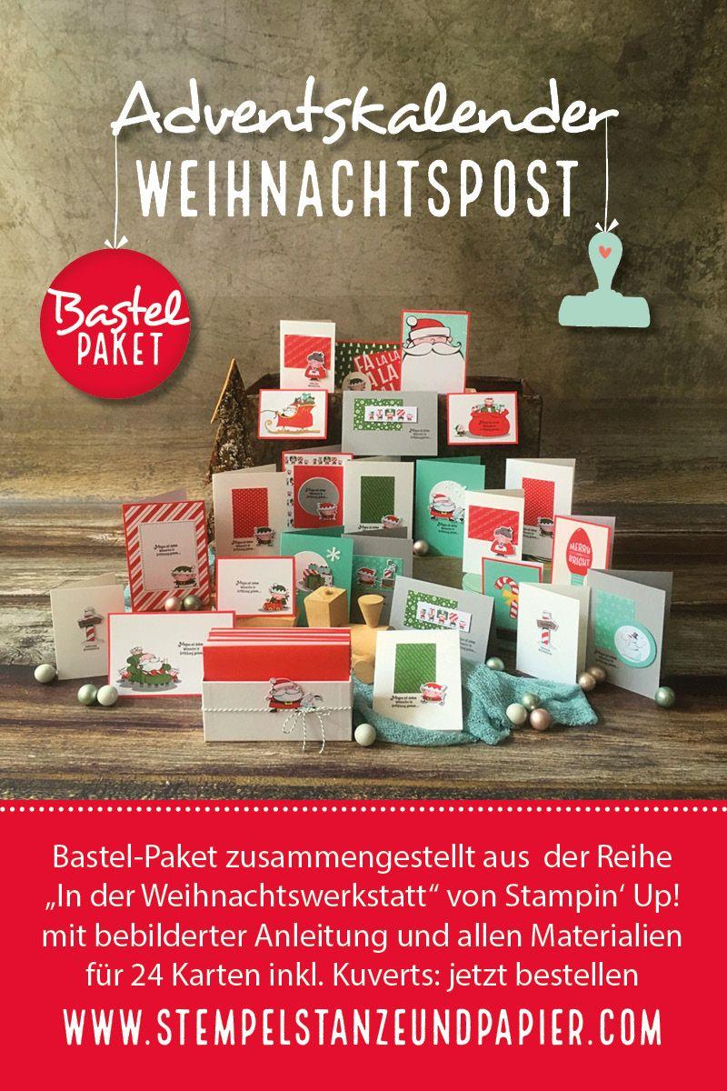Wann Weihnachtskarten Versenden.Adventskalender Projektset Jeden Tag Eine Selbstgebastelte