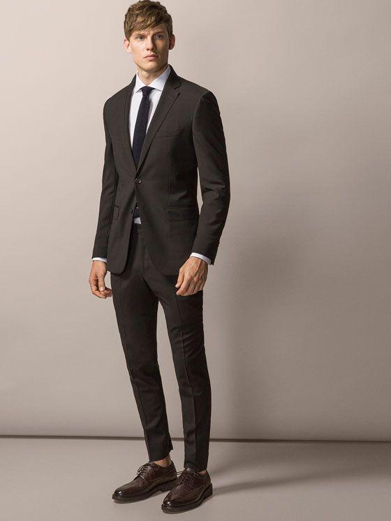 Trajes Men Espana Massimo Dutti Wool Suit Suits Mens Suits