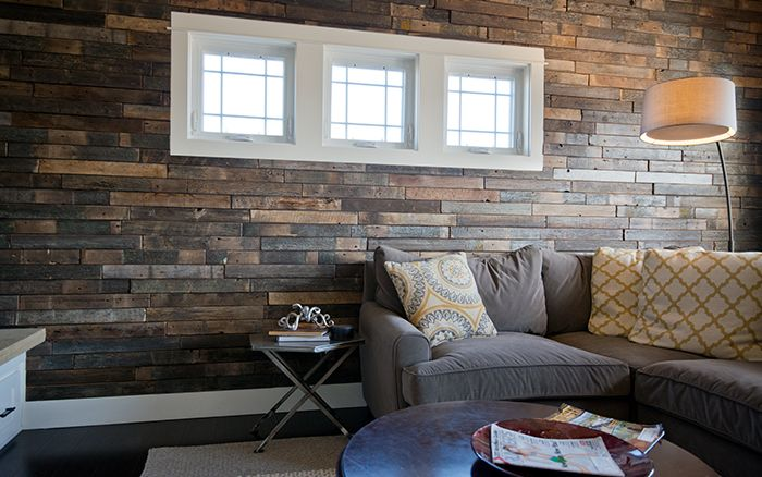 Stunning E&S wood-look tiles are great for a feature wall. Tile name is - Stunning E&S Wood-look Tiles Are Great For A Feature Wall. Tile