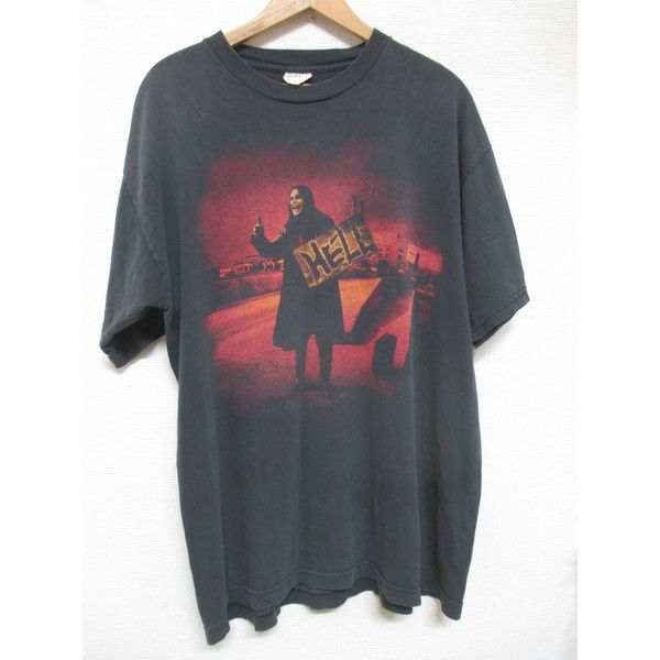 Vtg. OZZY OSBOURE HELL 90s Promo T-shirt (3,080 MXN) ❤ liked on Polyvore featuring tops and t-shirts