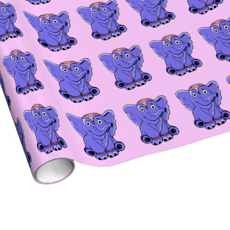 Baby elephant gift wrap