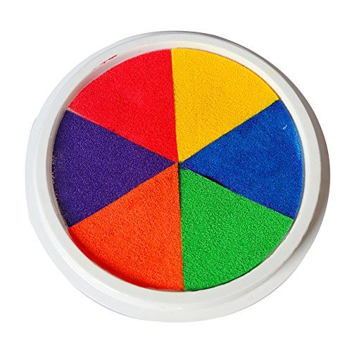 Children DIY Toys Sixcolor Finger Painting Ink Pad -- Details can be found by clicking on the image.