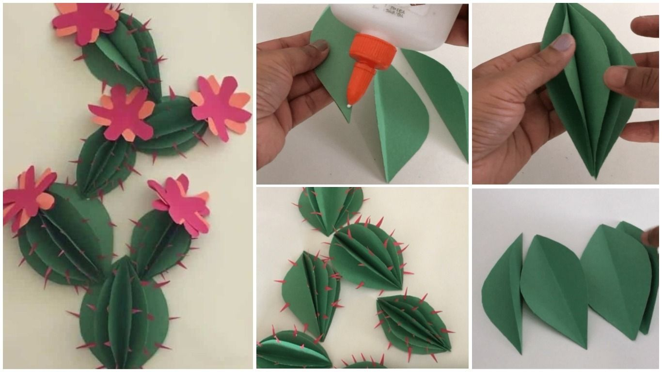 Have Fun Making This Easy Cactus Just With Cardstockconstruction