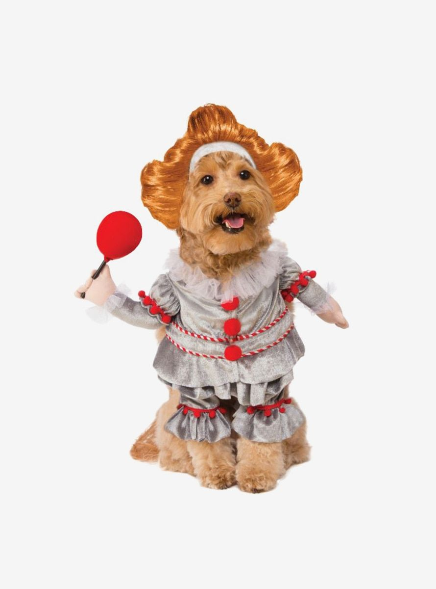It Pennywise Dog Costume Pet Costumes Pet Halloween Costumes Halloween Pet Costumes Dogs