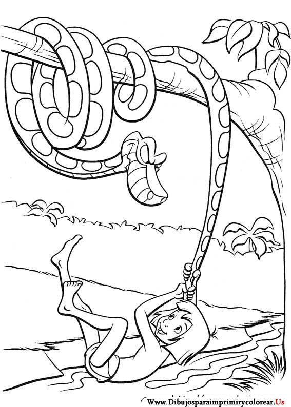 Dibujos de El libro de la Selva para Imprimir y colorear   Jungle ...