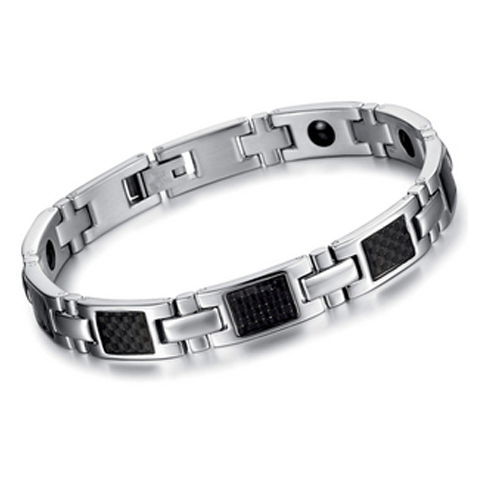 Silver On Black Stainless Steel Men S Bracelet Mens Jewelry Stainless Steel Bracelet Men Bracelets For Men