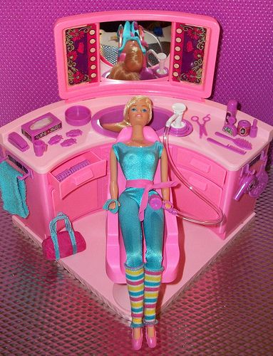 Barbie Beauty Salon Barbie Playsets Barbie Doll House Childhood Toys