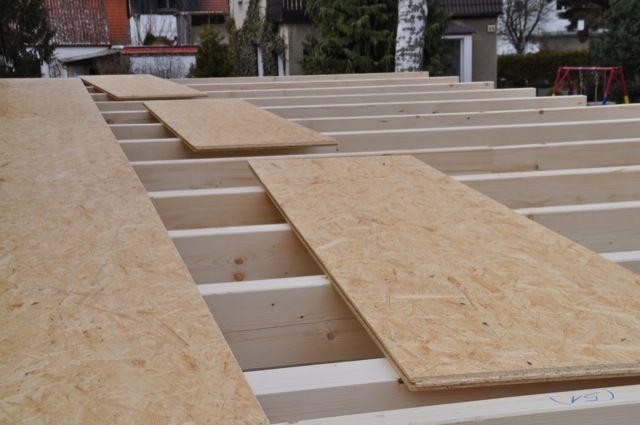 OSBPlatten Dach des Carport Dachkonstruktion