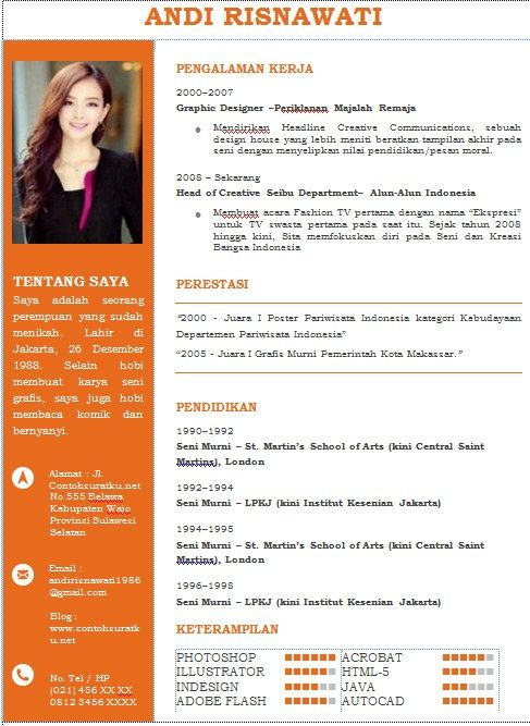 contoh cv format word free download template cv kreatif 30 desain - flyer format word