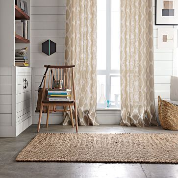 natural ikat curtains for reading room living room in a roman blind maybe
