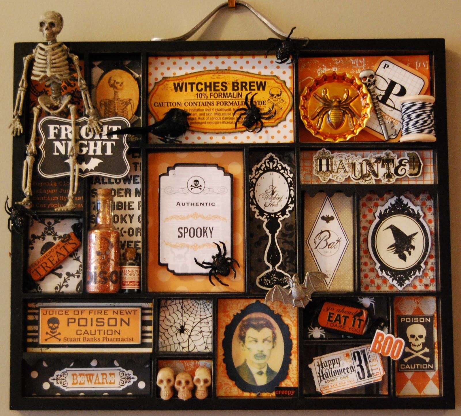 heathers hints of happiness altered halloween printers tray