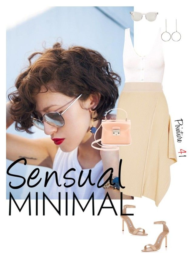 """Sensual Minimal"" by mrs-len ❤ liked on Polyvore featuring STELLA McCARTNEY, Manolo Blahnik, Furla and Dolce&Gabbana"