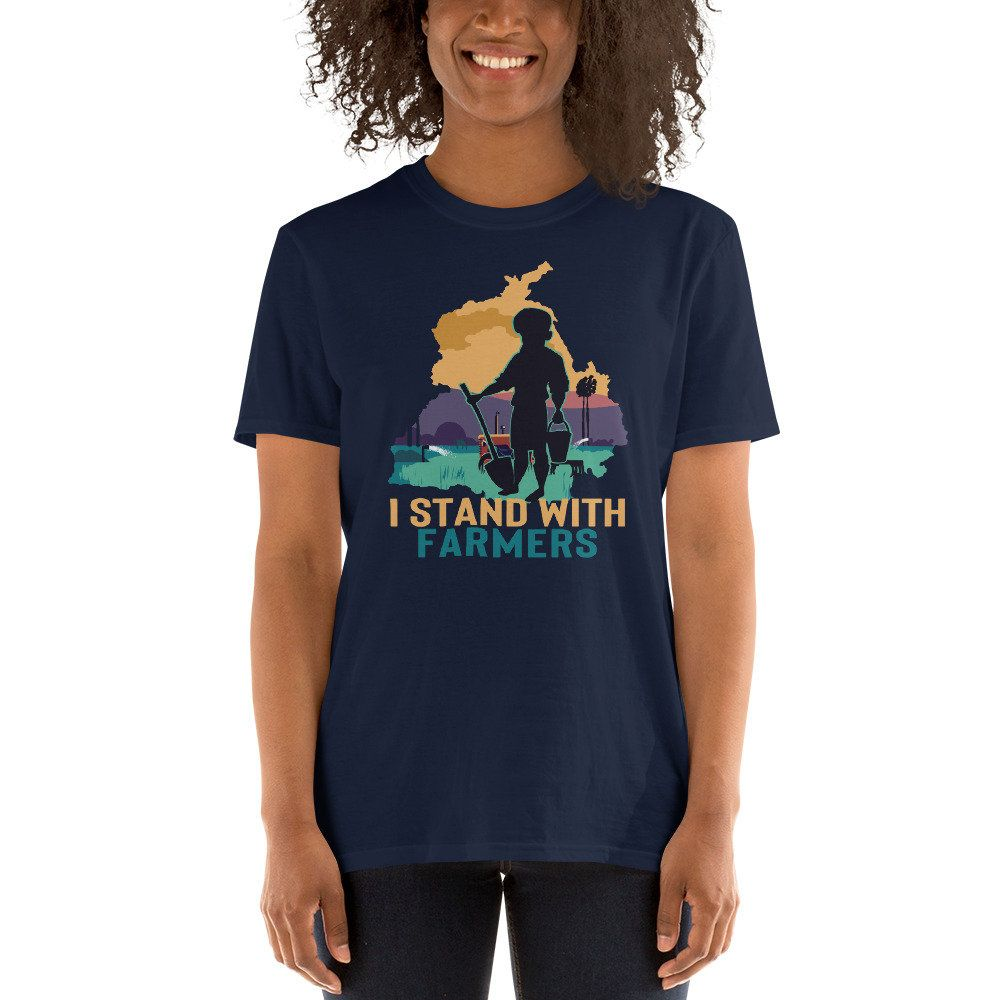 I Stand With Farmers Shirt Punjab India Farmers Protest Etsy In 2021 Farmer Shirt Shirts Stand By Me