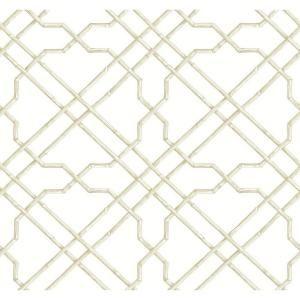 York Wallcoverings Black And White Bamboo Trellis
