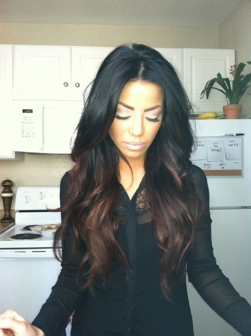 Dark brown light brown ombre google search hair - Ombre hair haarfarbe ...