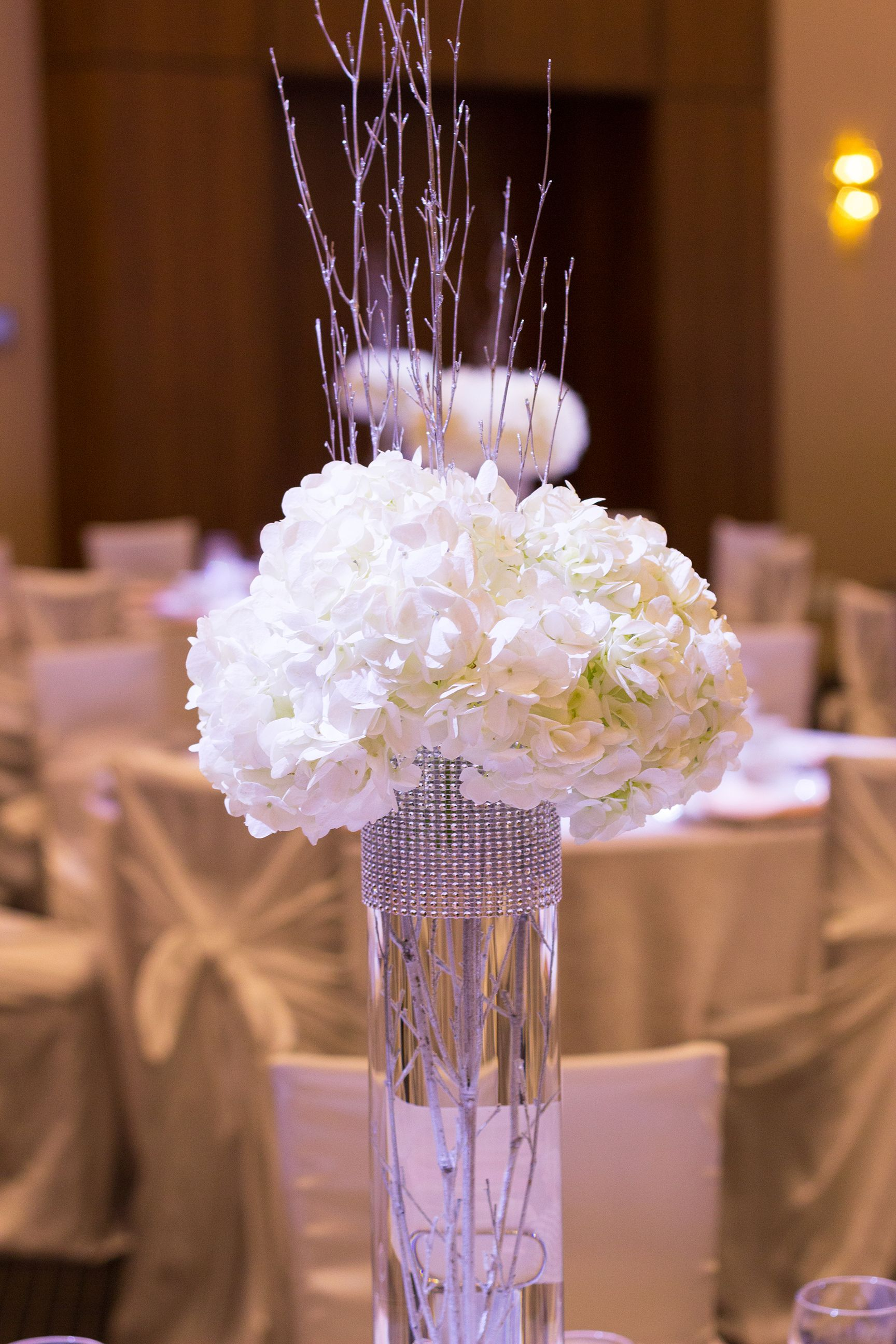 How to Make a Tall Rhinestone Centerpiece