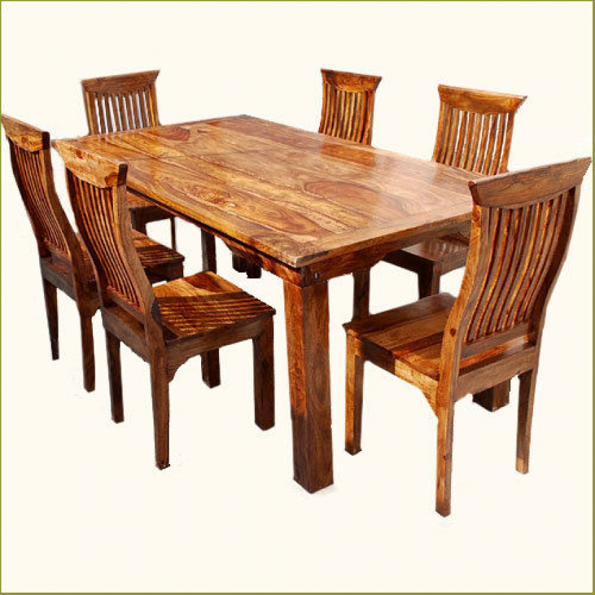 7pc Nautical Galley Dining Table For 6 People Chairs Set