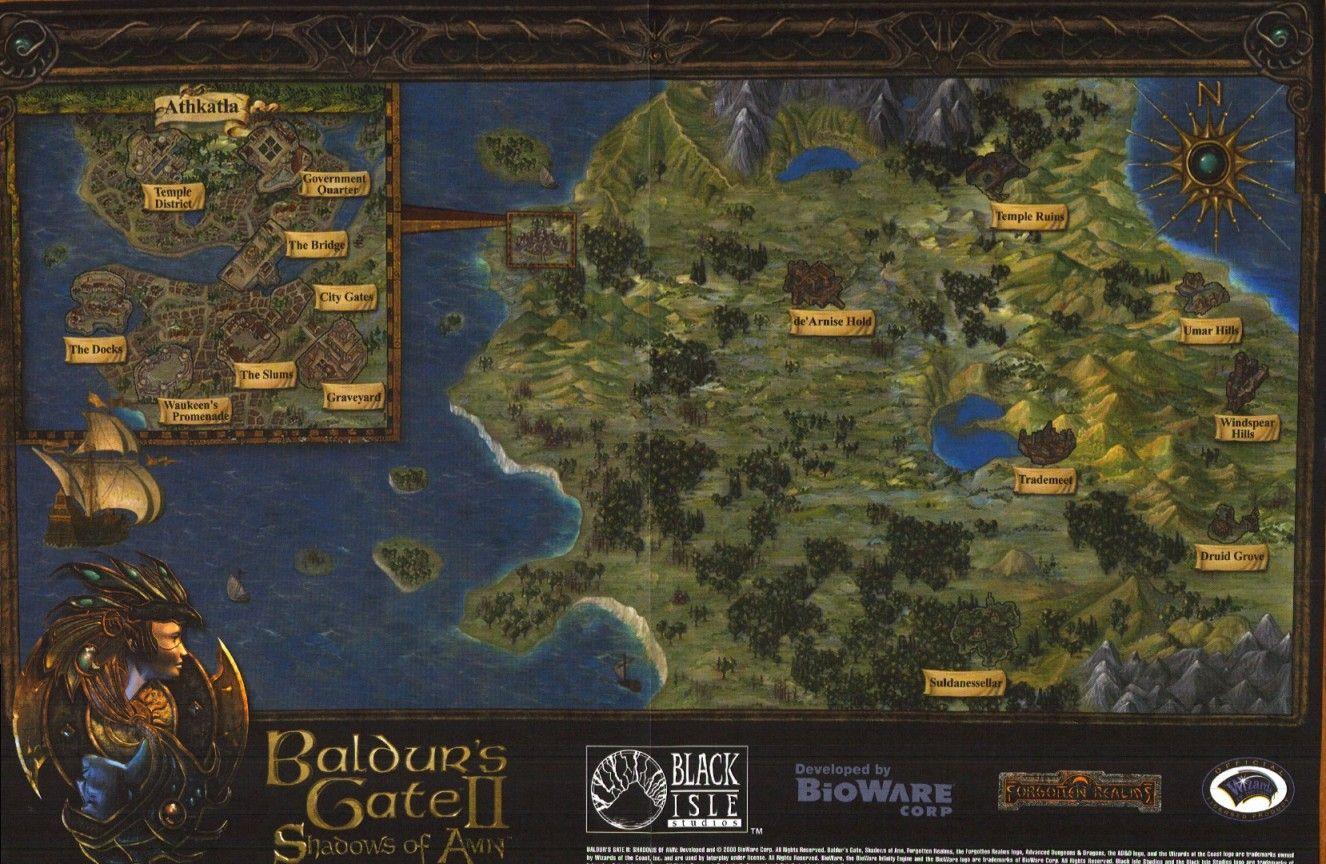 Baldurs Gate 2 Map Fantasy World Map Baldur S Gate