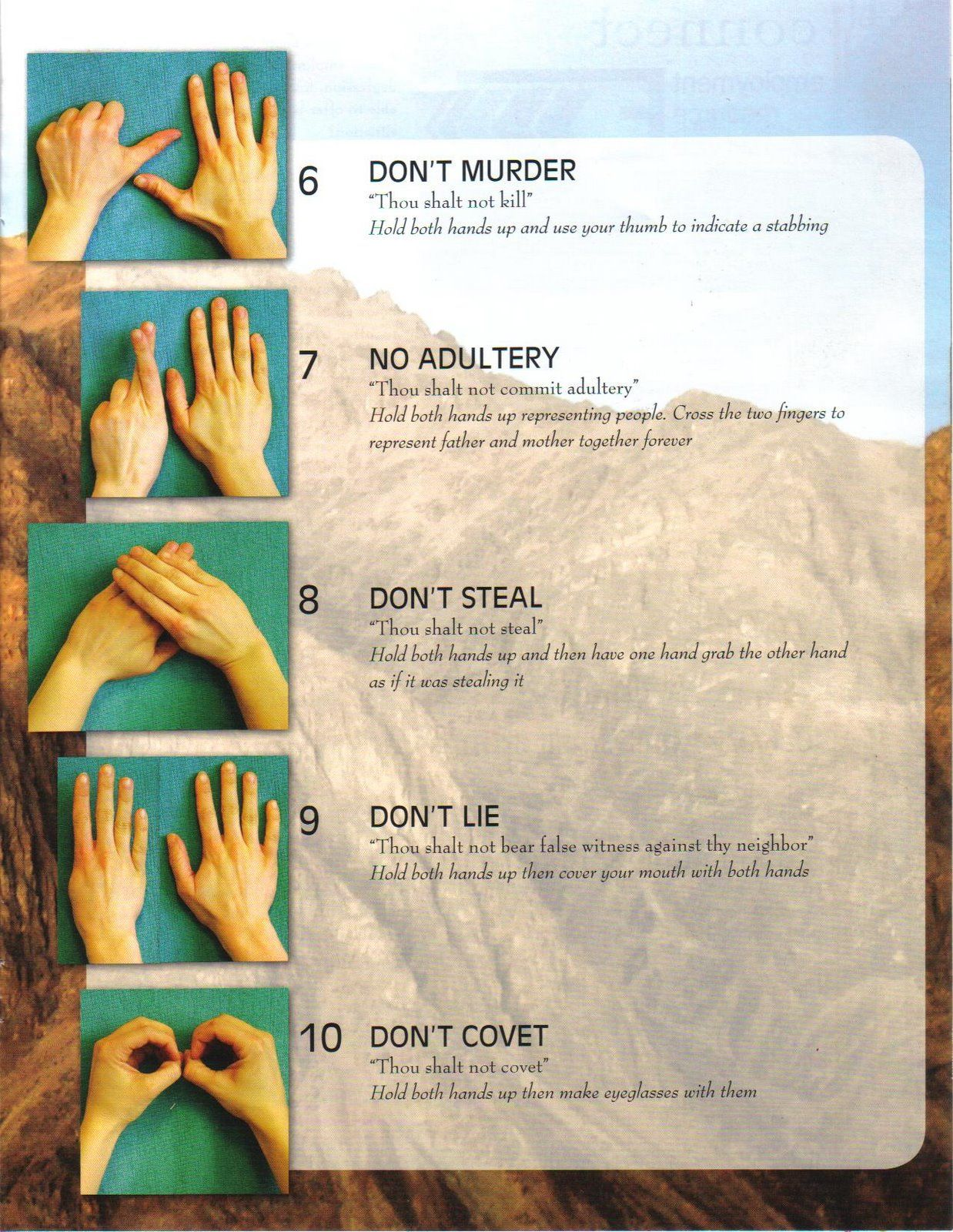 The 10 Most Beautiful Women In The World According To Science: 10 Commandments Hand Motions