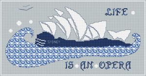Sydney Opera House Free Cross Stitch Pattern From Alita Designs