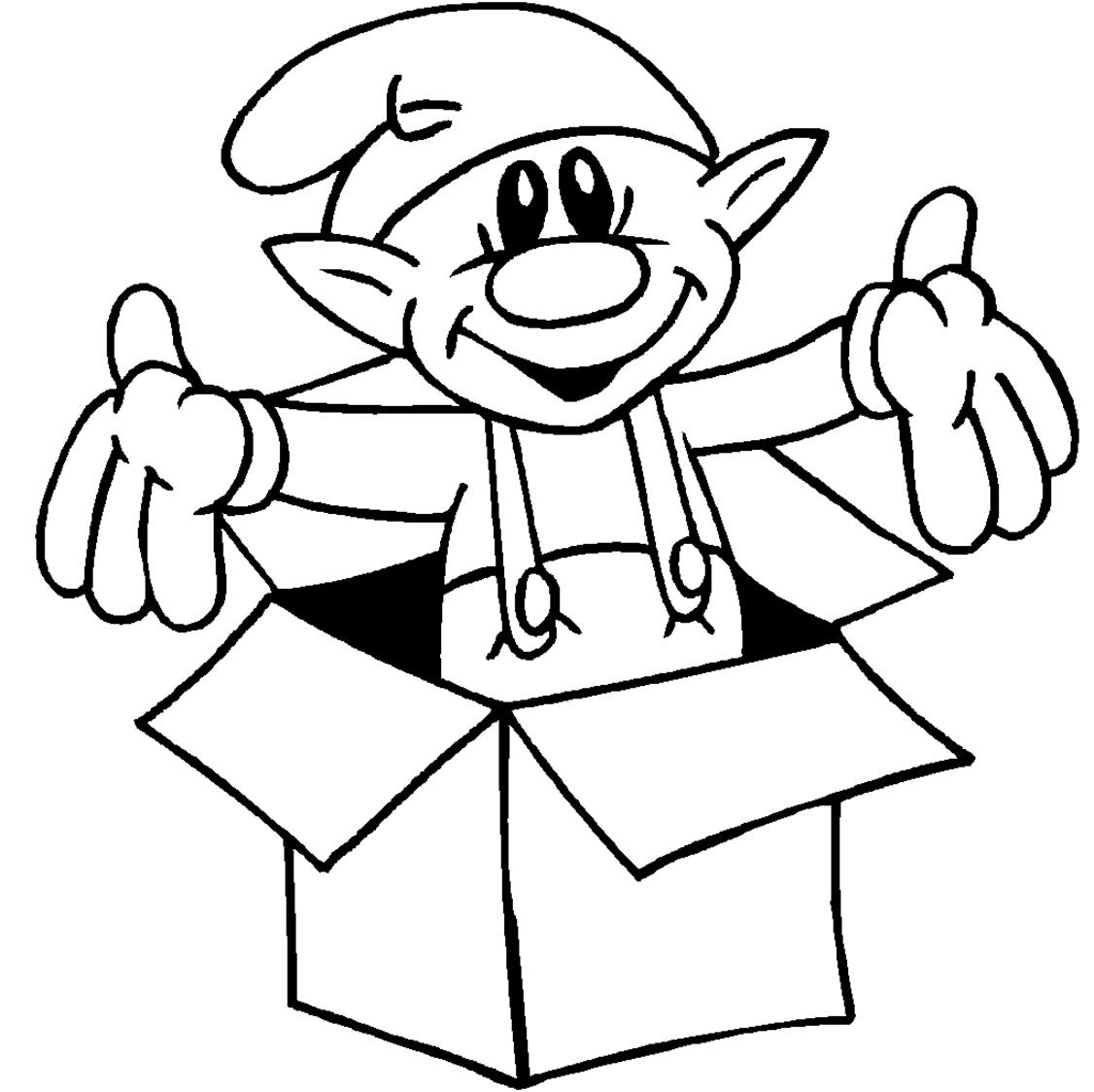 Christmas Coloring Pages Elf Elf Christmas Coloring Pages