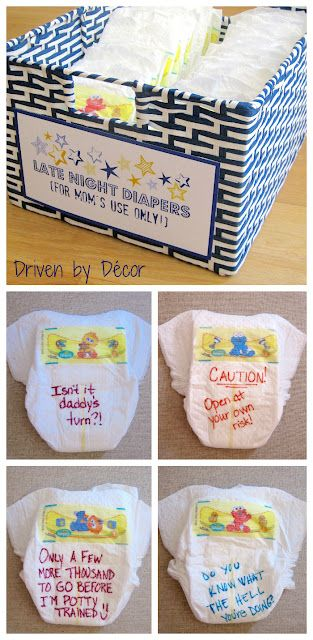 Late Night Diapers - Funny Baby Shower Activity