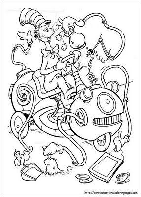 dr. seuss coloring pages | Education - Seuss | Pinterest
