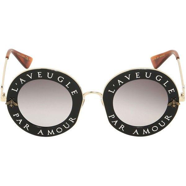 166dc9c2049 Gucci Women L aveugle Par Amour Round Sunglasses (2