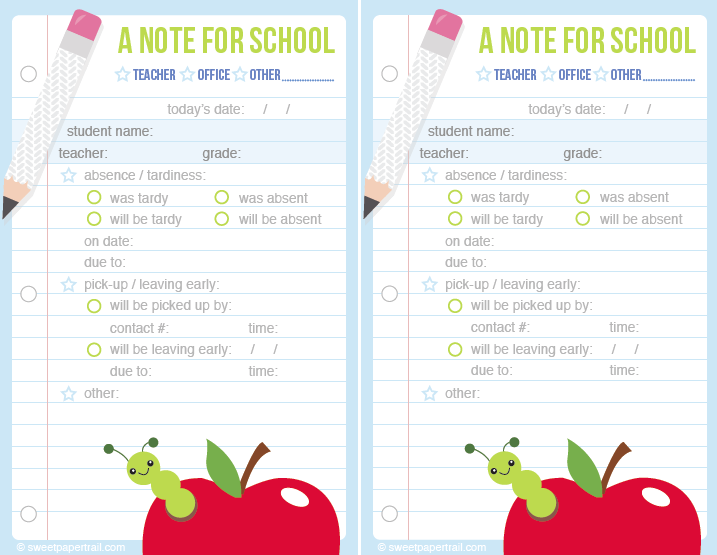 free school printable | SweetPaperTrail.com | School forms, Daycare ...