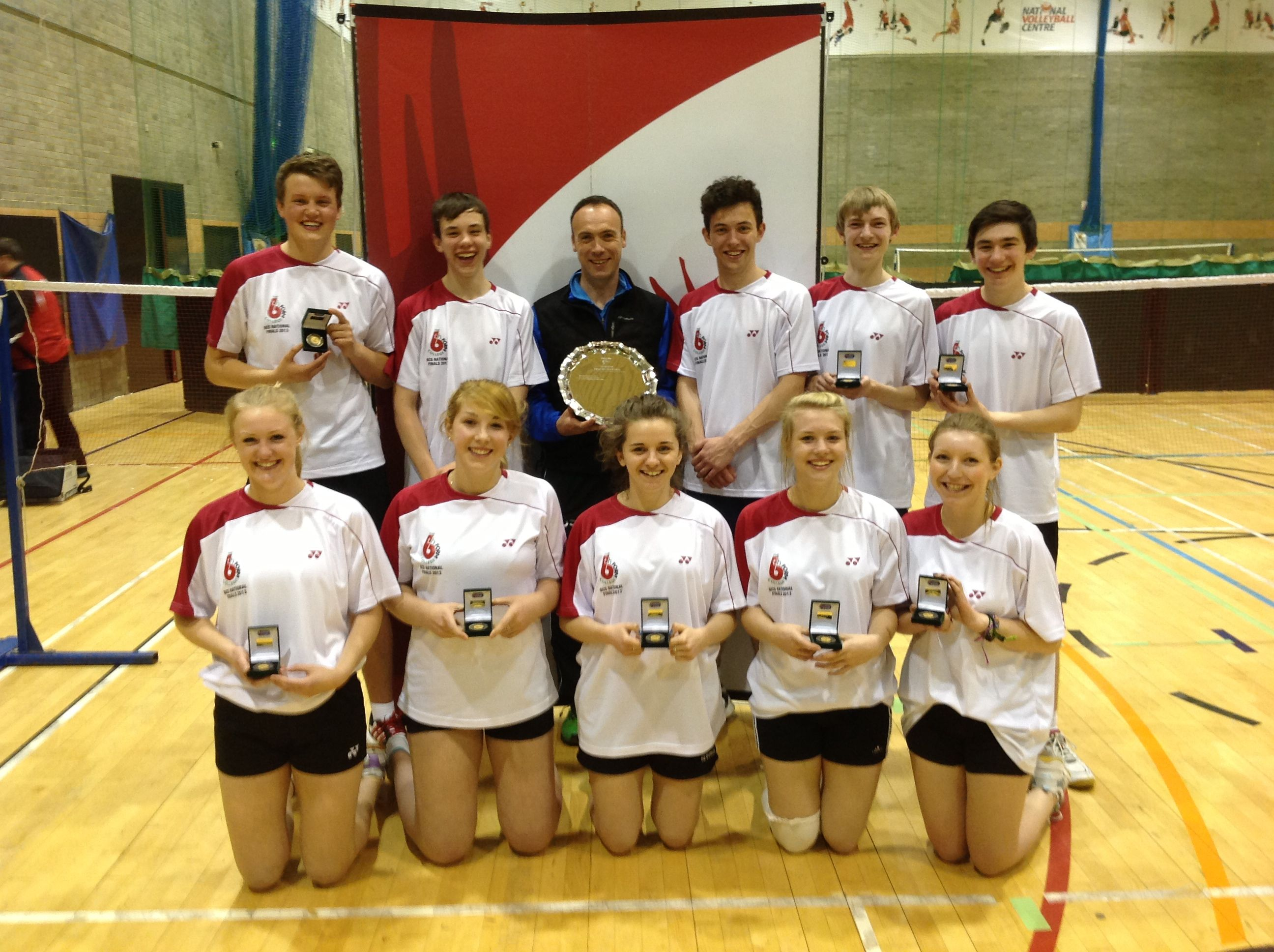 British Colleges Badminton Champions 2013 The Sixth Form College Farnborough British College Sixth Form College Sports Team