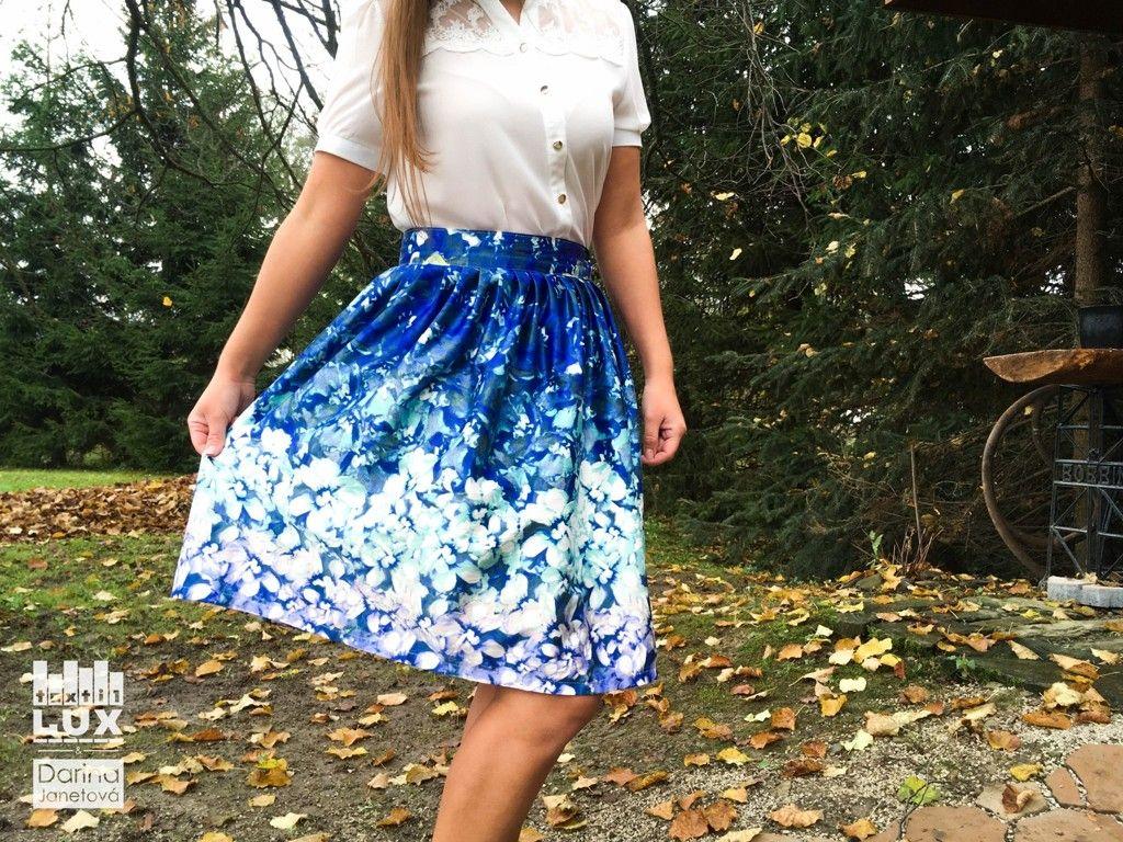 Krásna sukňa Z modrej 3573cd21457