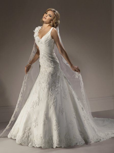 Maggie Sottero has the best wedding dresses- wish I could pin them all ;)
