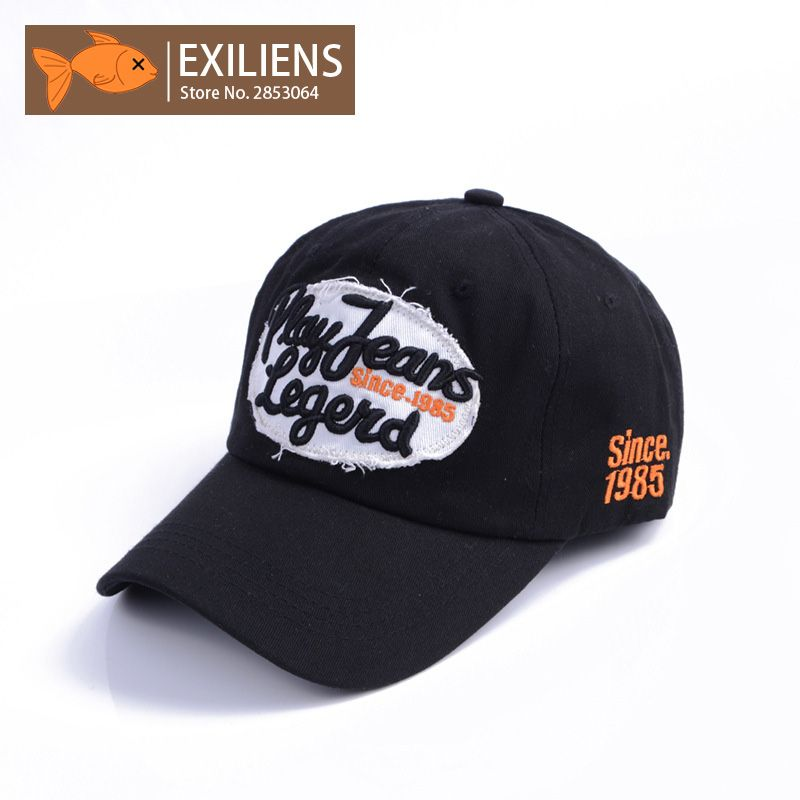 0e059d1db7d66  EXILIENS  2017 New Fashion Brand Baseball Cap Cotton Black Color Snapback  Caps Strapback Hip
