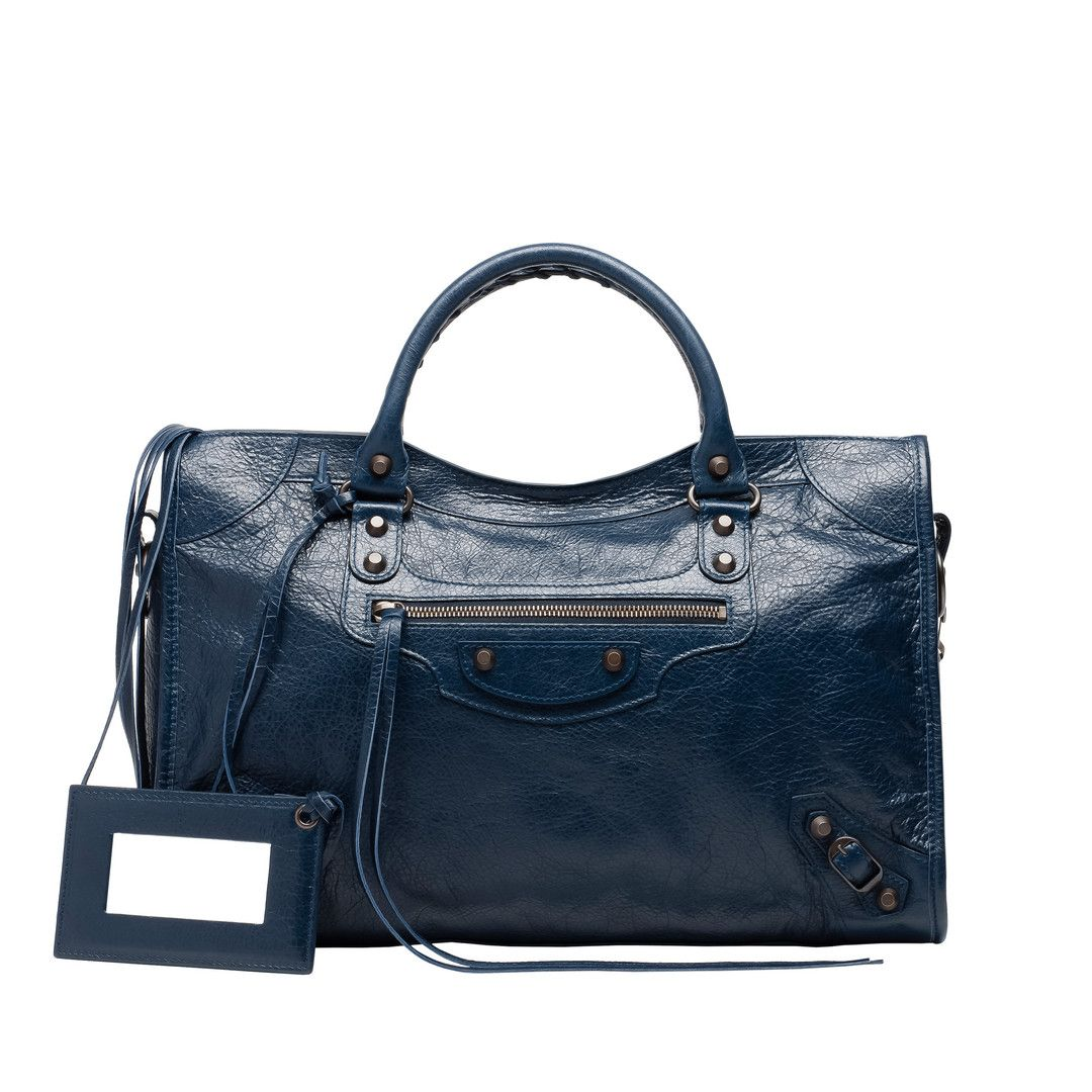 Balenciaga Shoulder Bag Women Dark Blue - Discover the latest ...