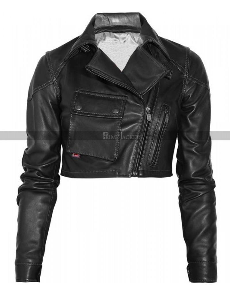 New Blouson Lady Short Body Black Leather Jacket Leather Jackets Women Short Leather Jacket Cropped Leather Jacket