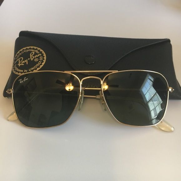 10e4f19945 Ray-Ban RB3136 Caravan Icons Sports Sunglasses Squared Shape Arista Colored  Frame