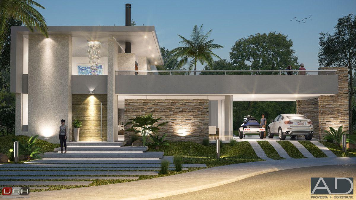 3d vivienda en aqua village render viviendas for Fachadas casas unifamiliares
