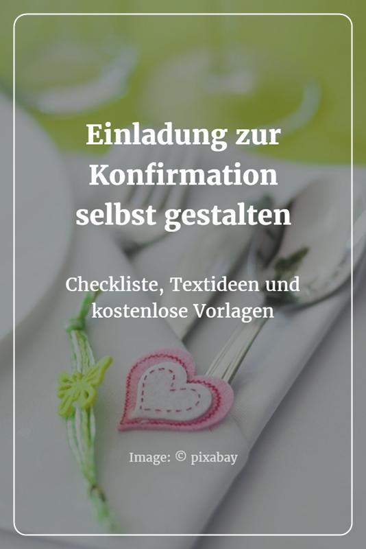 Formulierungstipps Und Checkliste: Das Gehört In Die Einladung Zur  Konfirmation. Außerdem: Wie Man