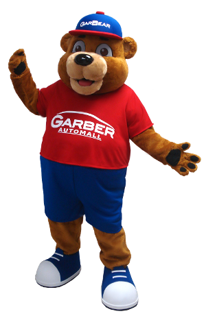 Garber Auto Mall >> Here Comes Garbear He S The New Mascot For Garber Automall
