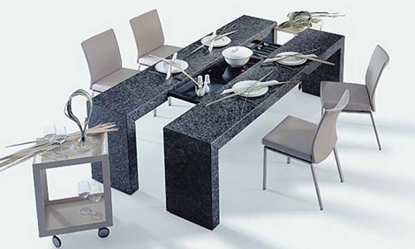 Etonnant Furniture, Best Modern Dining Table Along With Black Marble Chair Also  Beautiful Modern Chairs With Wheeled Table Decoration: Accommodating .