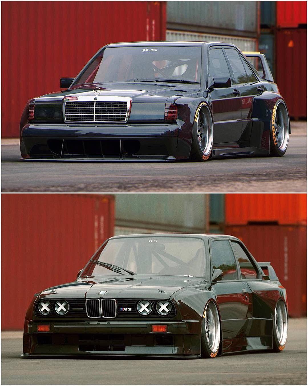 Top Or Bottom 190e Evo Vs E30 M3 Design By The Kyza