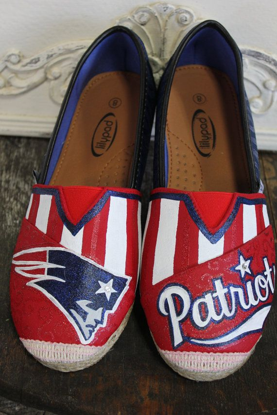 New England Patriots Custom Hand Painted by TouchOfJoyDesigns