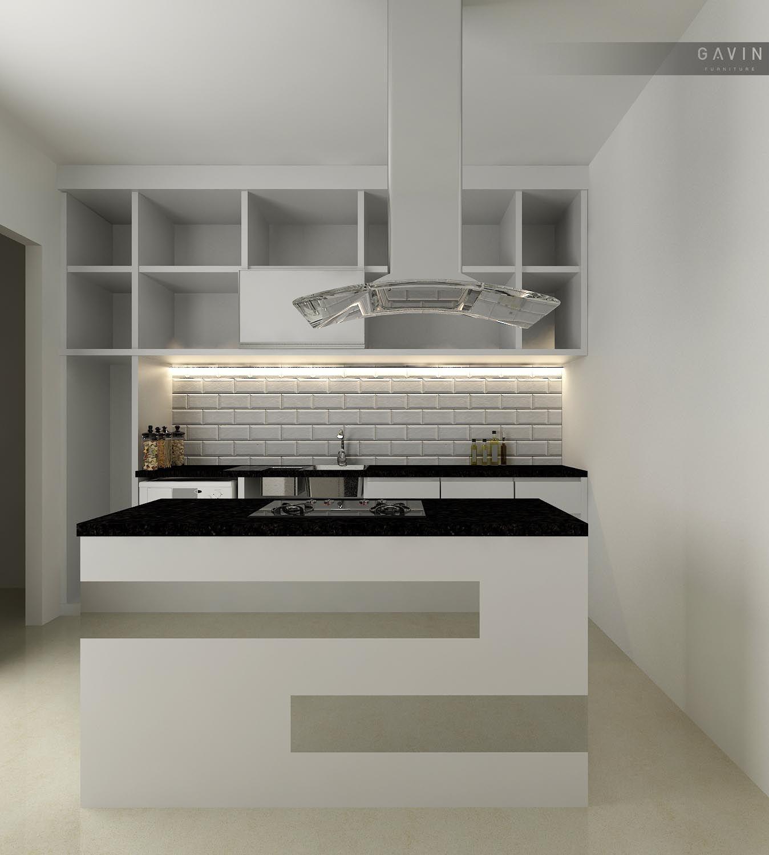 Kitchen Set Minimalis Dibuat Dengan Pilihan Warna Putih Mengkilap