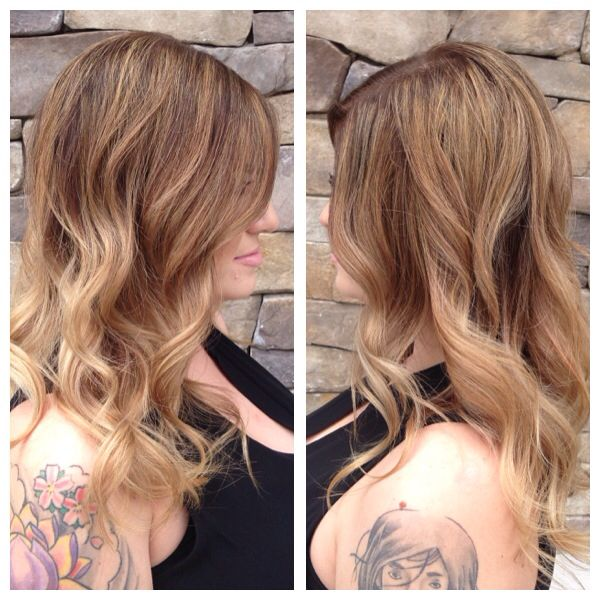 Medium Beige Blonde Colormelt And Ombre Combo Beige Blonde