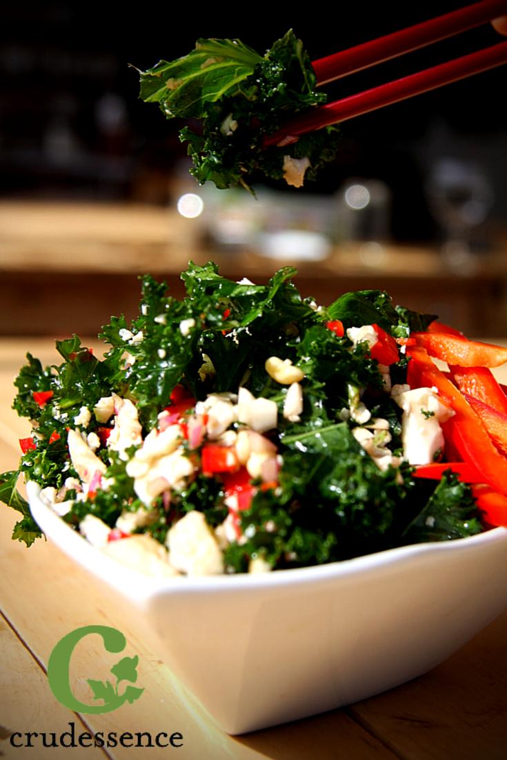 Crudessence Satisfying salads, Kale salad, Raw food recipes