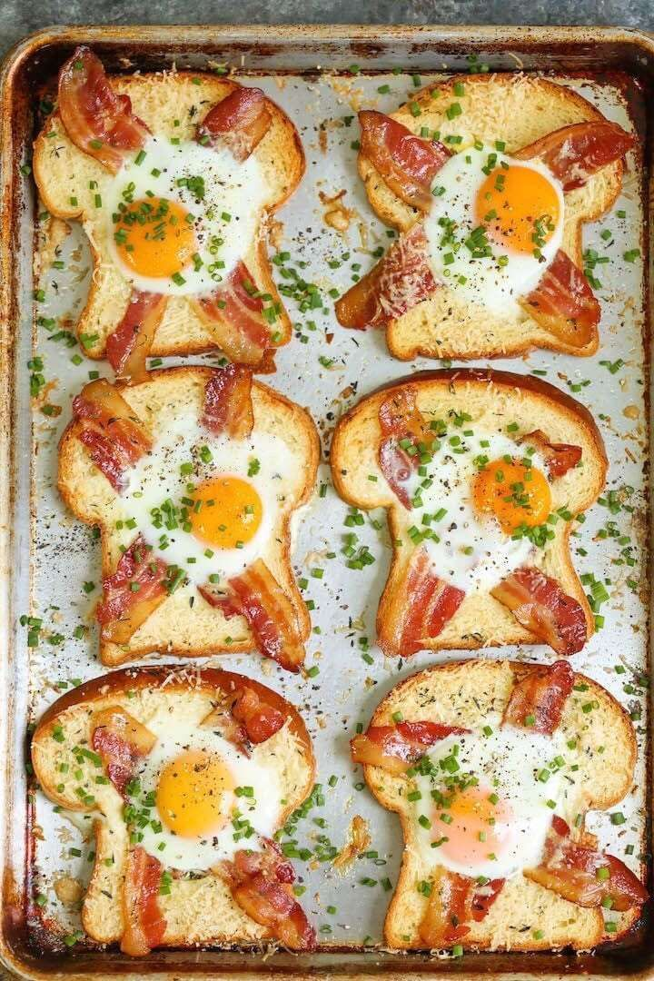 Sheet Pan Egg-in-a-Hole images