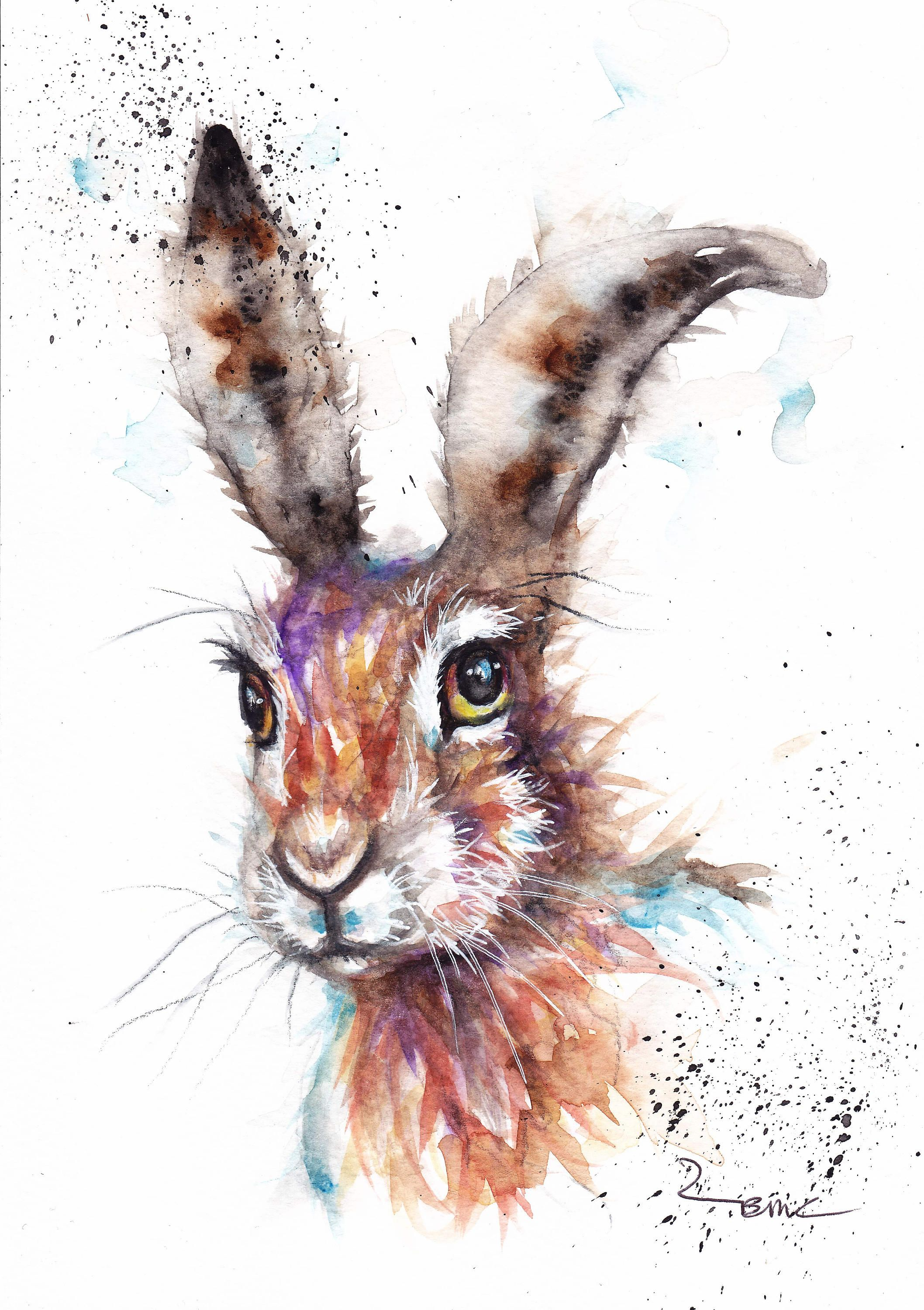 Hare Painting Watercolour Hare Paintings For Sale Hare Animal