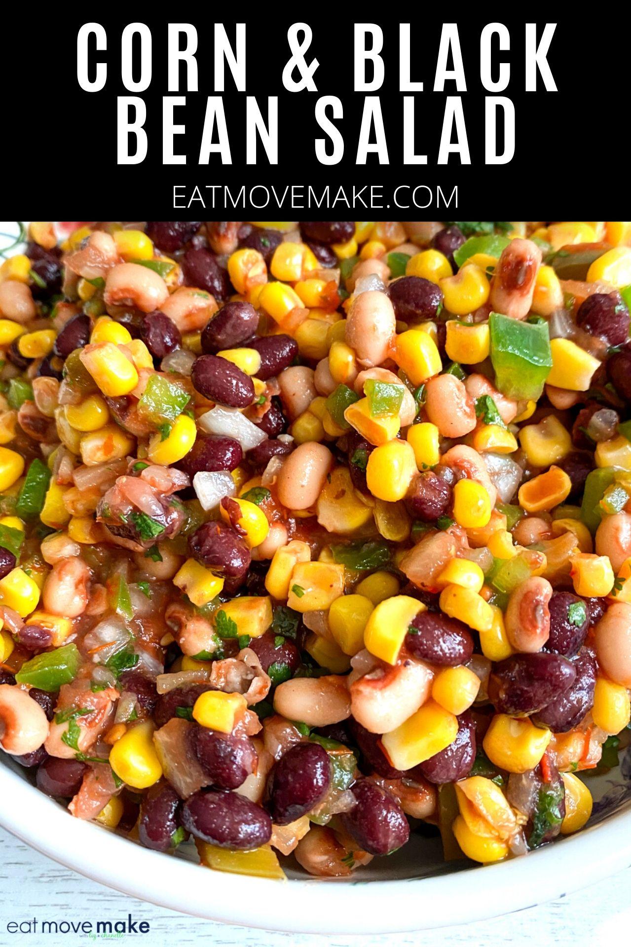 Corn And Black Bean Salad In 2020 Bean Salad Recipes Black Bean Salad Corn Salad Recipe Easy
