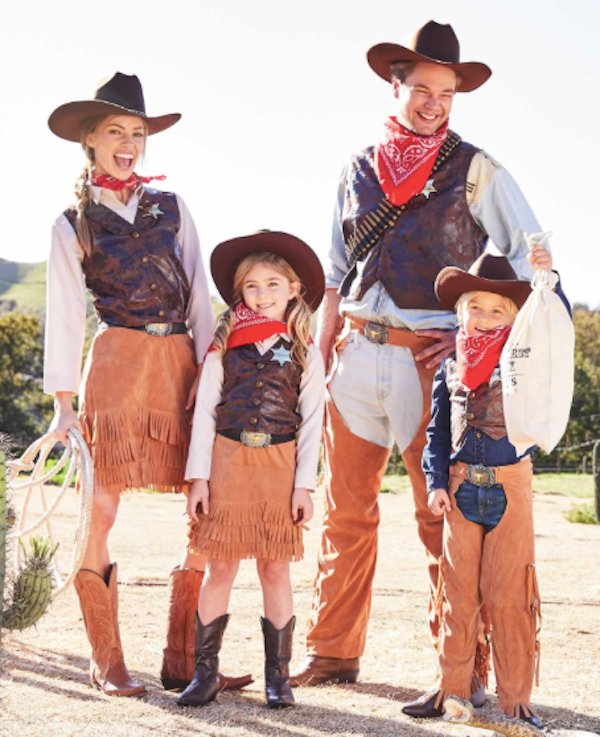 Childrens Kids Cowgirl Fancy Dress Costume Girls Outfit Cow Girl Western L
