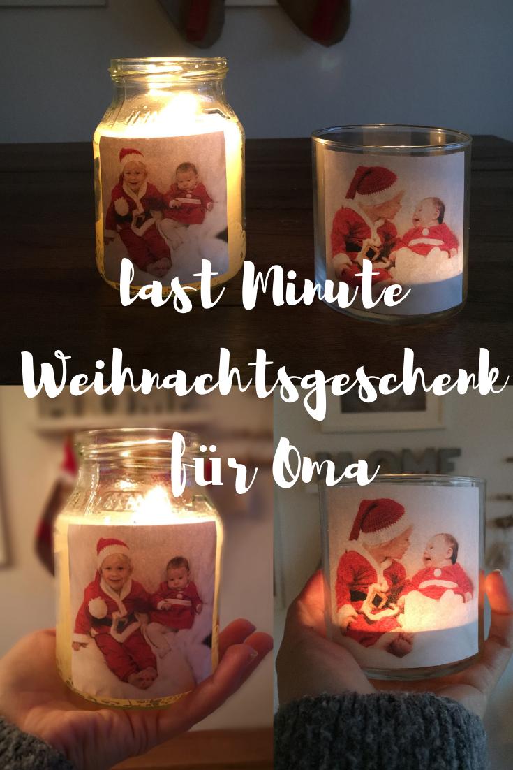 DIY Last Minute Weihnachtsgeschenk für Oma - Fotokerze und Fotowindlicht